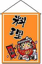 Japanische Sushi Bar Restaurant Kunst Flaggen Banner Innen Tür Tür Dekor, A06