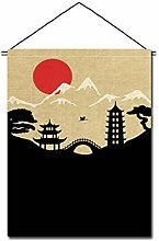 Japanische Sushi Bar Restaurant Kunst Flaggen Banner Innen Tür Tür Dekor, P102
