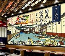 Japanische Sushi Hintergrund Tapete 3D für