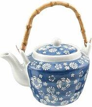 Japanische traditionelle Keramik-Teekanne mit