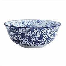 Japanischer Stil handbemalt blau-weiß Porzellan