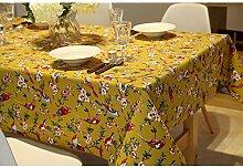 Japanischer stil retro amerikanische blumen und vögel tisch tuch.tischtuch westlichen tischdecke [pflanze blumen].verschiedene stile.-A 140x200cm(55x79inch)