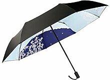 Japanischer Stil Sonnenschutz Sonne und Regen Regenschirm Faltender Regenschirm, Innen Blume