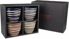 Japanisches Teebecher Geschenkset mit 4 Teeschalen