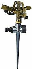 Jardinion Impulsregner Kreisregner Rasensprenger mit Zinklegierung, bis zu 24m Durchmessern Beregnung, Bewässerung Sprinkler Metallic / Zinkfarbe STK