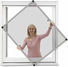 JAROLIFT Insektenschutz Spannrahmen Profi Line für Fenster, Rahmengröße 70cm x 150cm silber - ohne Bohren montierbar