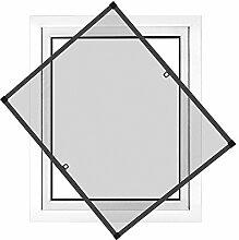 JAROLIFT Insektenschutz Spannrahmen Profi Line für Fenster, Rahmengröße 70 x 150cm, anthrazit - ohne Bohren montierbar