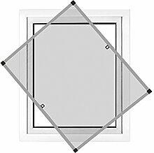 JAROLIFT Insektenschutz Spannrahmen Profi Line für Fenster, Rahmengröße 90cm x 150cm silber - ohne Bohren montierbar