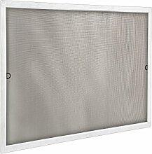 JAROLIFT Insektenschutz Spannrahmen SlimLine für Fenster 110 x 150cm in weiß