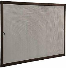 JAROLIFT Insektenschutz Spannrahmen SlimLine für Fenster 130 x 150cm in braun