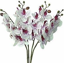 jarown Simulation Schmetterling Orchidee Künstliche Blumen Künstliche Phalaenopsis Pflanze Home Hotel Büro Dekoration 4 Point Purple