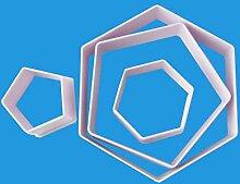 Jasnyfall 4 stücke hexagon fußball geformte