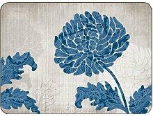 Jason Platzset Chrysantheme, Blau, 6 Stück