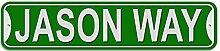 Jason Schild–Kunststoff Wand Tür Street Road Stecker Name, plastik, grün, Way