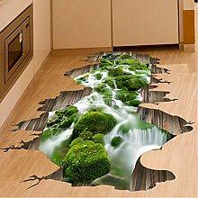 Jasonding 3D Boden Aufkleber Grüne Farbe Stream