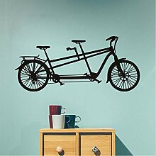 Jasonding Tandem Fahrrad Wandaufkleber Neues