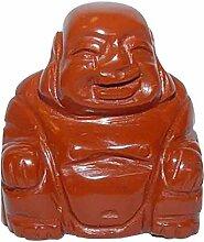 Jaspis Rot Buddha ca.25 x 30 mm aus echtem