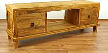 Java Sideboard aus Teakholz | TV-Bank aus Massivholz | Teakholz Phonoschrank | Asia HiFi-Möbel (Handarbeit) | Asiatische Möbel der Marke Asia Wohnstudio