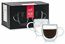 Javafly Espressobecher mit Henkel, doppelwandig,