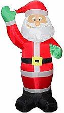 JAYLONG Weihnachts-Aufblasbarer Weihnachtsmann 6Ft
