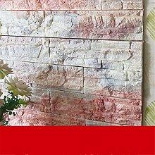 JAYSK 3d Wall Sticker TV Tapete Selbstklebende wasserdichte Wände Wohnzimmer, Schlafzimmer Tapete Aufkleber, Self-brick Muster korallenblöcke