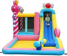 JAZC Hüpfburg Kinder Indoor Outdoor mit Rutsche