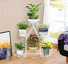 JAZS® Blume Racks, Einfache Eisen Sechs Schichten Wohnzimmer Balkon Boden Stil Blumentopf Rack Blume Regal Suspension Flower Stand Umweltschutz raffiniert ( Farbe : Weiß , größe : 77*21*72cm )