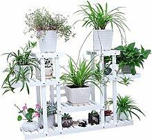 JAZS® Eisen Blumenrahmen Multilayer Boden Typ Balkon Blumentopf Grün Rettich Regal Einfache Wohnzimmer Hängende Orchideen Umweltschutz raffiniert ( Farbe : #3 )