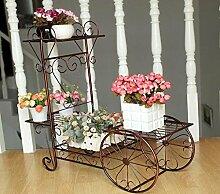 JAZS® Europäische Stil Landung Balkon Blumenregal Multilayer Einfache Eisen Blume Topf Rahmen Wohnzimmer Chlorophytum Grüne Blume Regal Umweltschutz raffiniert ( Farbe : #2 )