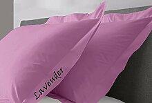JB Bettwäsche Scala solid Ägyptische Baumwolle Oxford Style Kissen wählen Sie Farbe und Größe (alle Größen und Farben), 100 % Ägyptische Baumwolle, lavendel, Euro/Square/Continental/European
