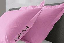 JB Leinen 350-thread-count Solid Ägyptische Baumwolle Oxford Style Kissen wählen Sie Farbe und Größe (alle Größen und Farben), 100 % Ägyptische Baumwolle, hellrosa, King/ California King