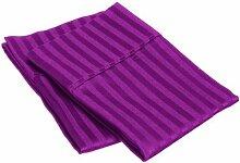 JB Leinen 500-thread-count gestreift Ägyptische Baumwolle Luxus & Super Soft Hausfrau Kissen wählen Sie Farbe und Größe (alle Größen und Farben), 100 % Ägyptische Baumwolle, violett, Standard
