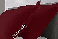 JB Leinen 500-thread-count Solid Ägyptische Baumwolle Oxford Style Kissen wählen Sie Farbe und Größe (alle Größen und Farben), 100 % Ägyptische Baumwolle, burgunderfarben, Body/Bed Body