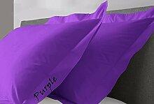 JB Leinen 600-thread-count Solid Ägyptische Baumwolle Oxford Style Kissen wählen Sie Farbe und Größe (alle Größen und Farben), 100 % Ägyptische Baumwolle, violett, Super King