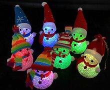 JBR 3 Stück LED Beleuchtung Schneemann Dekofigur