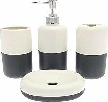 JC 5Haken Metall Garderobe, Distressed, Feder, Silber–von Just Contempo, plastik, Black Bathroom Set, 24 x 8 x 35 cm
