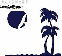JCM ¨ Eisen auf Transfer Aufkleber, Beach Navy Blau