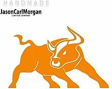JCM ¨ Eisen auf Transfer Aufkleber, Bull Neon Orange
