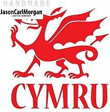 JCM ¨ Eisen auf Transfer Aufkleber, Cymru ro