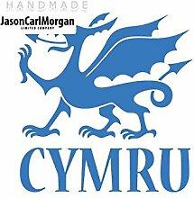 JCM ¨ Eisen auf Transfer Aufkleber, Cymru Sky Blau