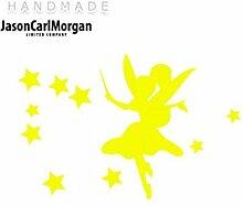 JCM ¨ Eisen auf Transfer Aufkleber, Fairydust Neon Gelb