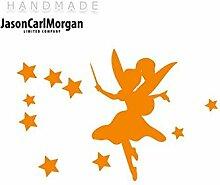 JCM ¨ Eisen auf Transfer Aufkleber, Fairydust Neon Orange