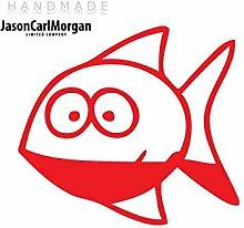 JCM ¨ Eisen auf Transfer Aufkleber, Fisch ro