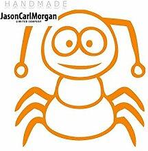 JCM ¨ Eisen auf Transfer Aufkleber, Insekten Neon Orange