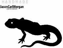 JCM ¨ Eisen auf Transfer Aufkleber, Lizard schwarz
