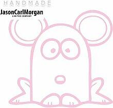 JCM ¨ Eisen auf Transfer Aufkleber, Maus Soft Pink