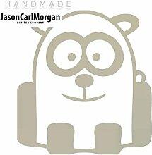JCM ¨ Eisen auf Transfer Aufkleber, Panda Silber
