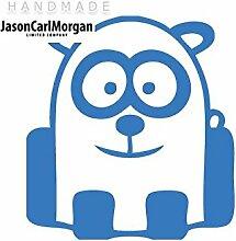 JCM ¨ Eisen auf Transfer Aufkleber, Panda Sky Blau