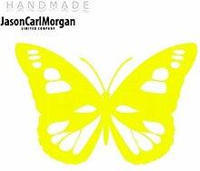 JCM ¨ Eisen auf Transfer Aufkleber, Schmetterling Neon Gelb