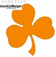JCM ¨ Eisen auf Transfer Aufkleber, Shamrock Neon Orange